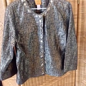 NWOT Ruby Rd cropped dressy jacket size 10